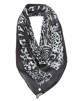 Animal Grid scarf