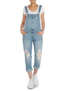 Paige Sierra overall ripped denim dungarees
