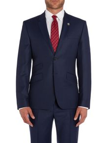Modfox Navy Pindot Slim Fit Jacket