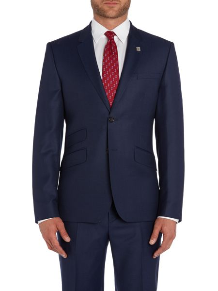 Ted Baker Modfox Navy Pindot Slim Fit Jacket