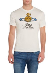 Slim Fit Time Machine Orb Graphic T-Shirt