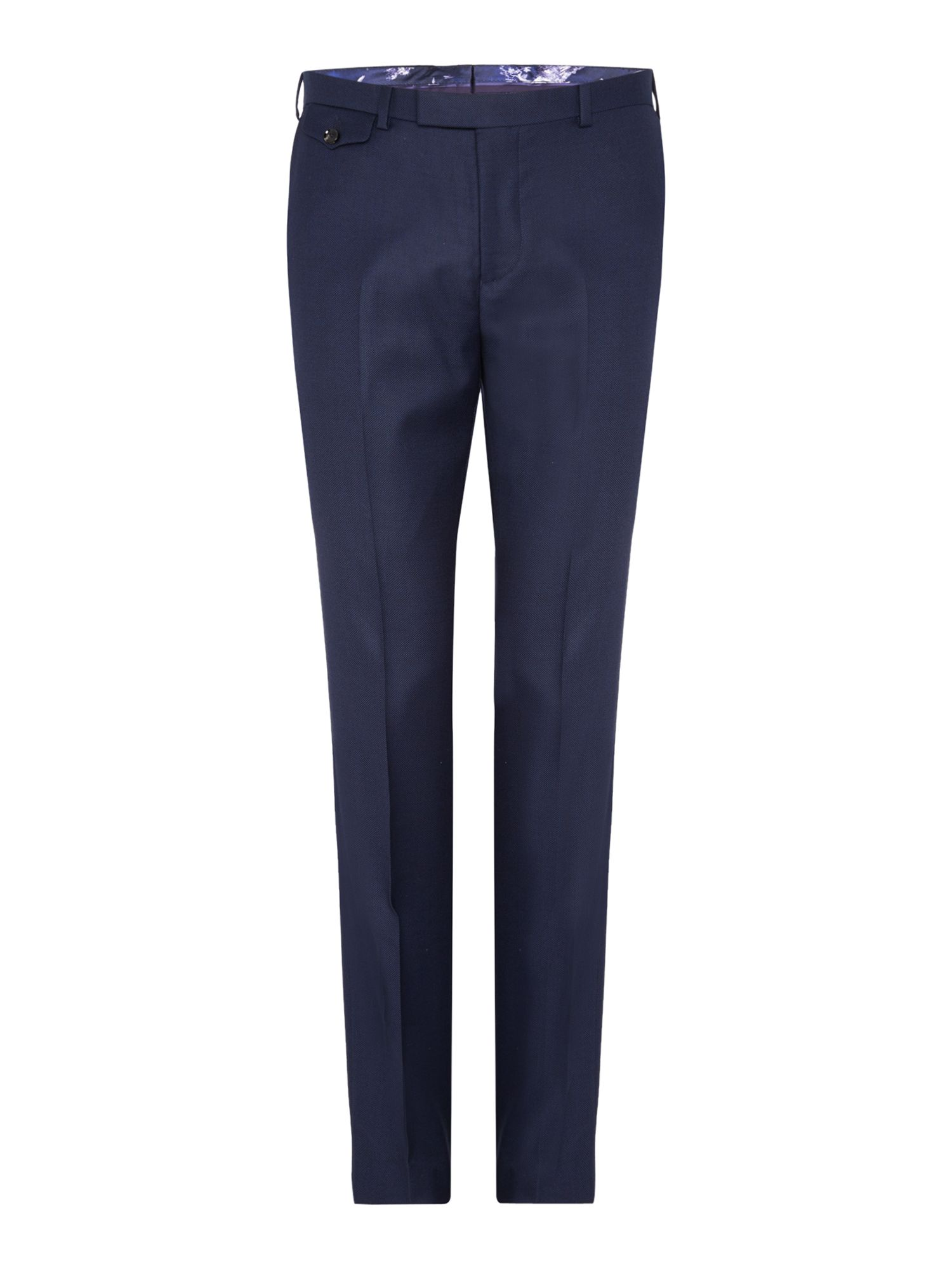 Mens Ted Baker Pin Dot Slim Fit Suit Trousers Blue