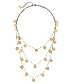 Brass Disc Layer Necklace
