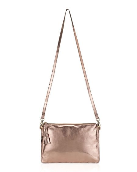 East Metallic Leather Pouch