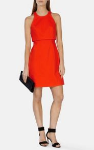 Karen Millen Double layer bodice a line dress