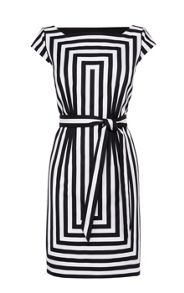 Graphic Stripe Shift Dress