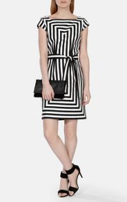 Karen Millen Graphic Stripe Shift Dress