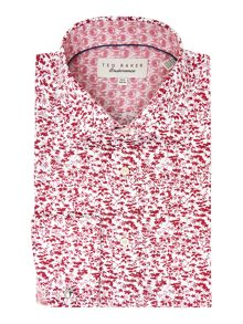 Ted Baker Flosho Floral Double Cuff Formal Shirt