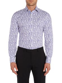 Flosho Floral Double Cuff Formal Shirt