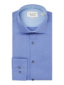 Ted Baker Pattern Slim Fit Long Sleeve Classic Collar Shirt