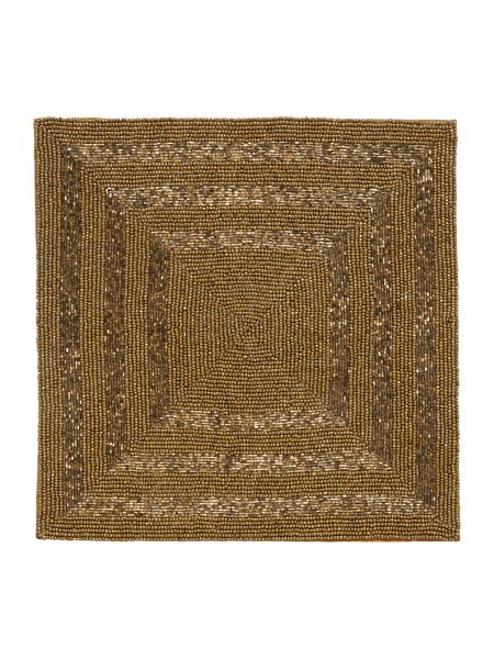 Linea Square gold halo placemat set of 2