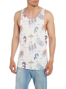 Jack & Jones Print Scoop Regular Fit Vest