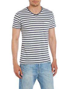 Stripe Crew Neck Regular Fit T-Shirt