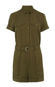 Soft Tencel Safari Playsuit
