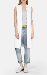 Karen Millen Patchwork faded wash relaxed jean