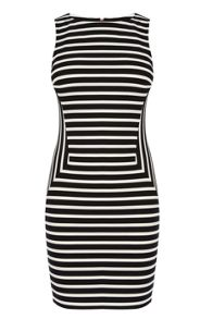 Stripe panelled dress