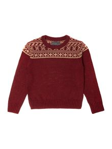 Boys Calagry Fairisle Panel Jumper