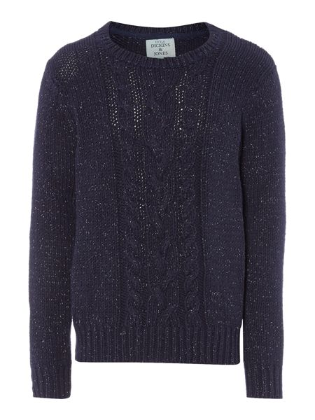 Little Dickins & Jones Girls Cable Knit Sparkly Jumper