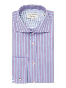 Ted Baker Stripe Slim Fit Long Sleeve Classic Collar Shirt
