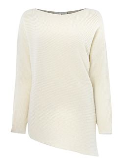 Tillie asymmetric colour block jumper