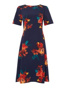 Dickins & Jones Floral Print Fit & Flare Dress