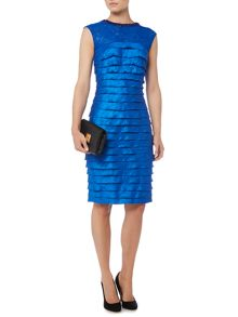 Bead neck shimmer shutter dress