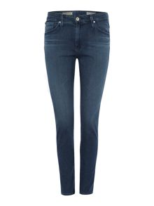 Farrah high rise skinny crop jean in diver