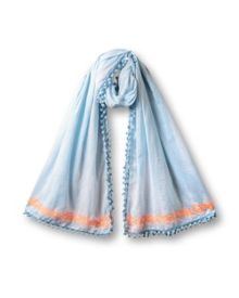 Embroidered Tie Dye Scarf