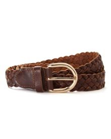 Leather Plaited Belt