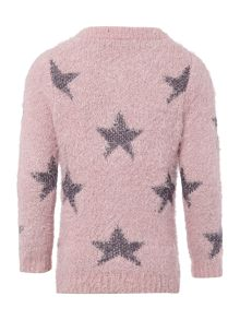 name it Girls Fluffy Star Printed Cardigan