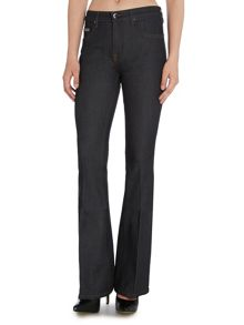 Victoria Beckham Denim Stretch flare jean in broken twill