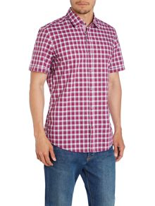 Hugo Boss Luca_4 Classic Fit Short Sleeve Check Shirt
