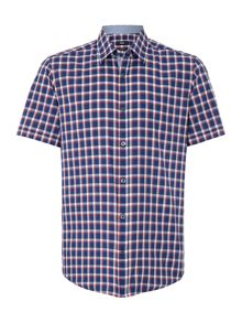 Luca_4 Classic Fit Short Sleeve Check Shirt