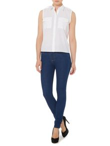 Victoria Beckham Denim Powerhigh skinny jeans in blue 17