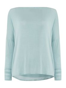 Tilde Twist Knit and Chiffon Panel Top