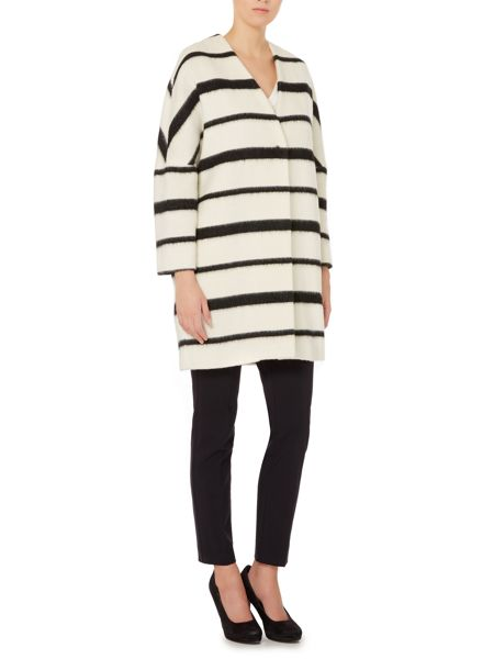 Marella Ruth monochrome stripe coat