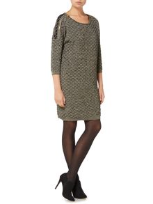 Biba Knitted lurex zip detail jumper dress