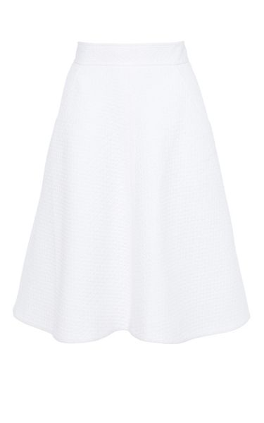 Karen Millen Cotton pique skirt