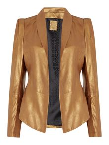 Heritage Real leather structured jacket