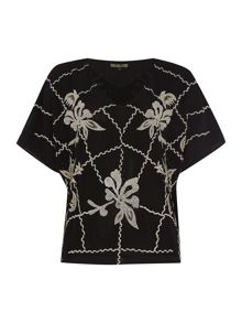 Beaded and embroidered blouse
