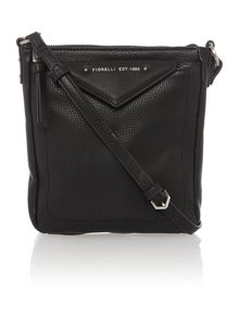 Coby black crossbody tote bag
