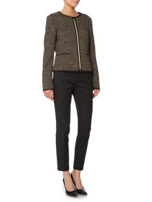 Hugo Boss Koralena Zip Front Boucle Tweed Jacket