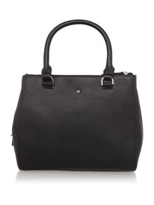Mia black small crossbody tote bag