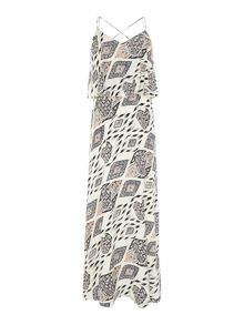 Vince Camuto Layered stripe print maxi dress