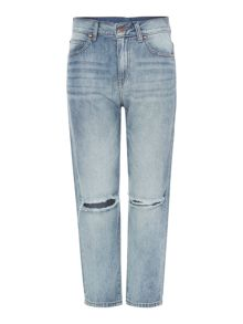 Dr Denim MyBoy boyfriend fit jean in light stone destroyed