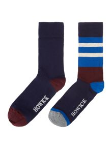 Howick 2 Pack Stripe Sock