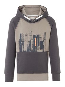 name it Boys Cityscape Hooded Jumper