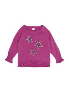 name it Girls Star Printed Jumper