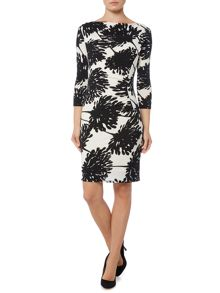 Oversized floral moon ruch dress