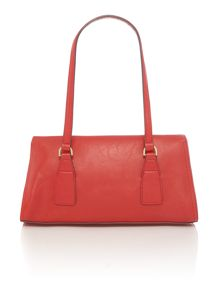 Jodie red flap tote bag